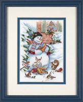 Bonhomme de neige et petits amis