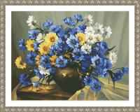Bouquet en bleu