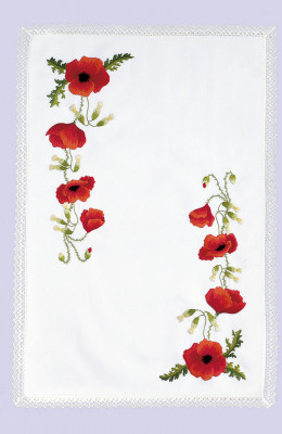 Napperons coquelicots