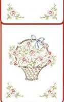 Cache-torchons : panier de roses