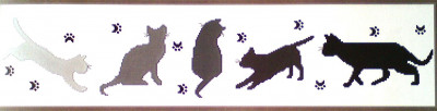 Frise chats perchés