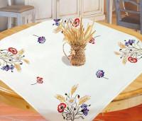 Surnappe et chemin de table fleurs d'été