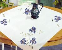 Surnappe et chemin de table iris
