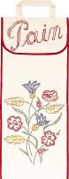 Sac à pain : fleurs et blé