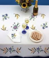 Nappe mimosas et bleuets