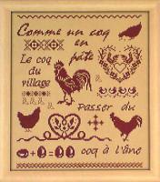 Marquoir coq et poules