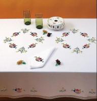 Nappe fleurettes et mimosa