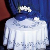 Nappe fleurs bleues