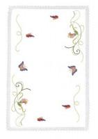Napperons et nappes volutes et papillons
