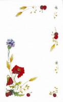 Napperons et nappes fleurs des champs