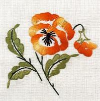 Napperons fleur orange