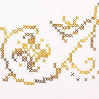 Napperons harmonie dorée