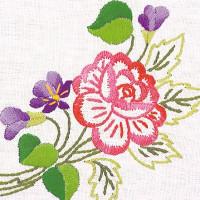 Napperons fleur rose et crocus