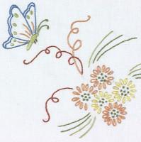 Napperons papillon et fleurs