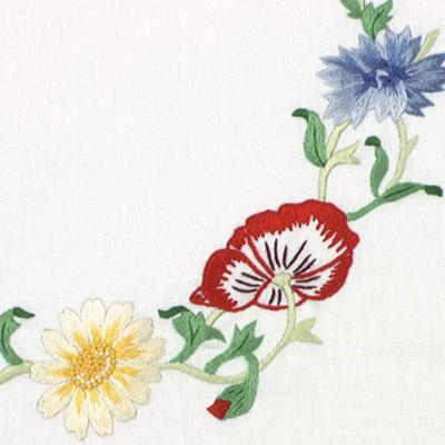 Napperons trio de fleurs variées