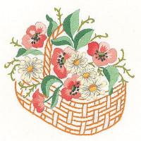 Napperons panier de fleurs