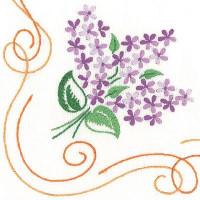 Napperons lilas