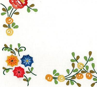 Napperons fleurs stylisées