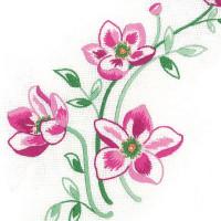 Napperons trio de fleurs roses
