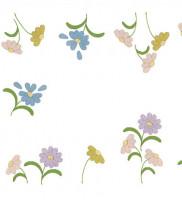 Napperons fleurs tons pastels