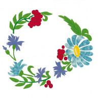 Napperons fleurs colorées