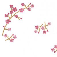 Napperons branche de cerisier