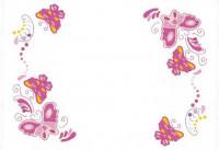 Napperons papillons roses