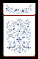 Cache-torchons : point de croix bleu