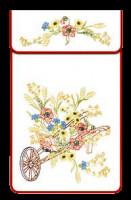Cache-torchons : la brouette fleurie