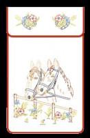 Cache-torchons : deux chevaux
