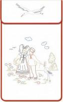 Cache-torchons : couple alsacien et cigogne
