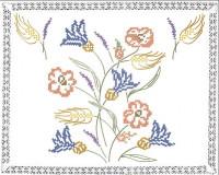 Napperon le bouquet champêtre