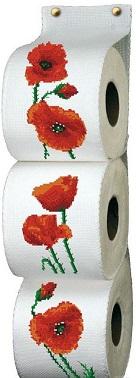 Range papier toilette les coquelicots