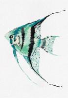 Pièce à broder et à coudre petit poisson