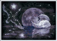 Cygnes sous la lune