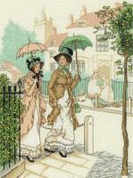 Demoiselles en promenade