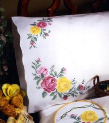 taie d'oreiller roses classiques