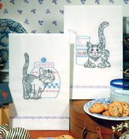 Serviettes de cuisine : chatons