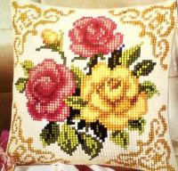 Coussin roses mélangées