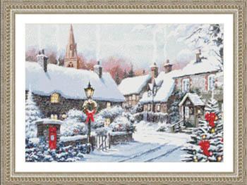 Coin de village en hiver