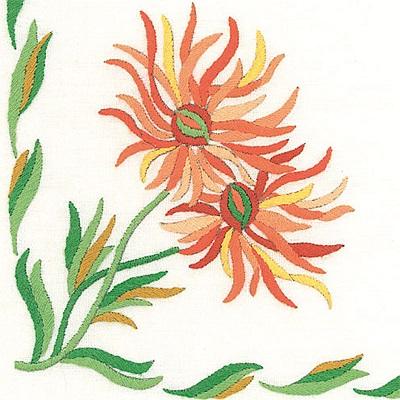 Napperons dahlias cactus