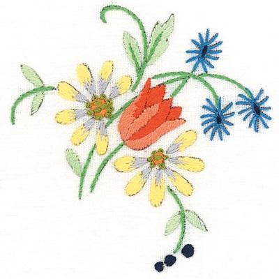 Napperons tulipes