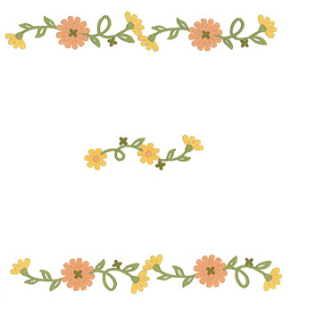 Napperons fleurs oranges et jaunes