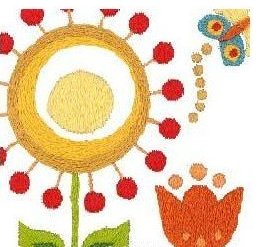 Napperons fleurs du soleil