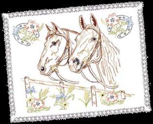Napperon les chevaux