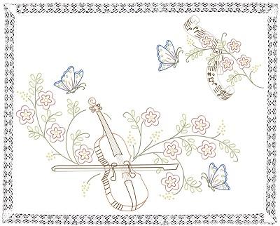 Napperon le violon