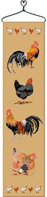 Collection de coqs et poules