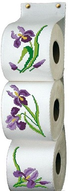 range papier toilette les iris iza broderie. Black Bedroom Furniture Sets. Home Design Ideas